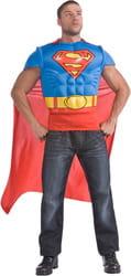 Фото Костюм Супермен в футболке с мускулами взрослый
