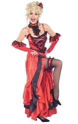 Фото Костюм Танцовщица кабаре в красном взрослый