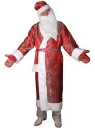 Фото Костюм Дед Мороз в красной шубе взрослый