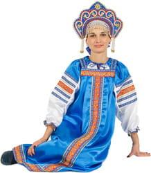 Фото Костюм Народный костюм Василиса (синий) взрослый