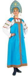 Фото Костюм Народный костюм Дуняша (бирюзовый) взрослый