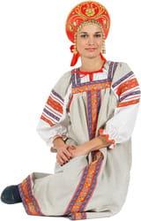 Фото Костюм Народный костюм Забава (лён) взрослый