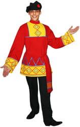 Фото Костюм Русская народная рубаха Петр с поясом (красная) взрослый