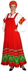 Фото Костюм Русский национальный костюм Ульяна (красный) взрослый