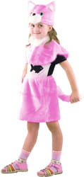 Фото Костюм Кошка розовая детский