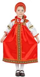 Фото Костюм русский народный Василиса (красный) детский