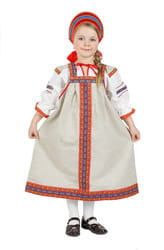 Фото Костюм русский народный Забава (лен) детский