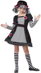 Фото Костюм Черно-белая тряпичная кукла детский