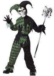 Фото Костюм Дьявольский шут зелено-черный детский