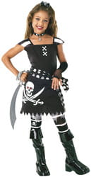 Фото Костюм Пиратка черно-белая детский