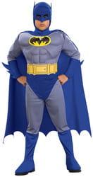 Фото Костюм Бэтмен синий с мускулами детский