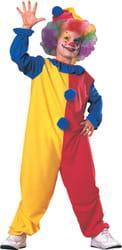 Фото Костюм Клоун (красно-желтый) с колпаком детский