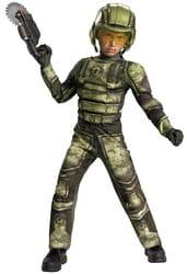 Фото Костюм Солдат SWAT с мускулами (зеленый) детский