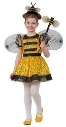 Фото Костюм Пчелка в платье золотистая детский