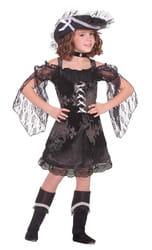 Фото Костюм Роскошная пиратка в чёрном детский