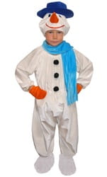 Фото Костюм Снеговик с шарфом и варежками детский