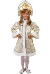 Фото Костюм Снегурочка девочка (золотой) детский