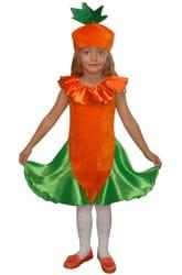 Фото Костюм Морковка в платье детский