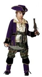 Фото Костюм Капитан пиратов лиловый детский