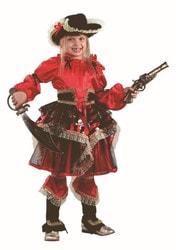 Фото Костюм Пиратка красная детский