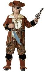 Фото Костюм Капитан пиратов коричневый детский