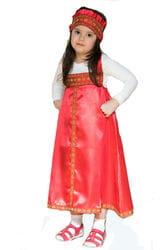 Фото Костюм русский народный для девочки (красный) детский
