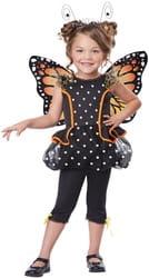 Фото Костюм Бабочка с крыльями и усиками детский