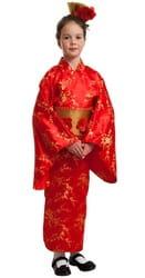 Фото Карнавальный костюм детский Японка красный