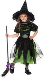 Фото Костюм Маленькая ведьма в колпаке детский