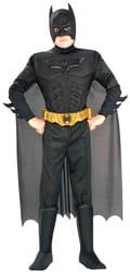 Фото Костюм Бэтмен черный с мускулами детский