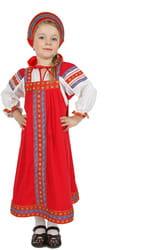 Фото Костюм русский народный Дуняша (красный) детский