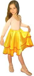 Фото Юбка танцевальная желтая детская