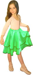 Фото Юбка танцевальная зеленая детский