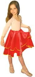 Фото Юбка танцевальная красная детская
