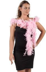 Фото Боа из длинных перьев розовое