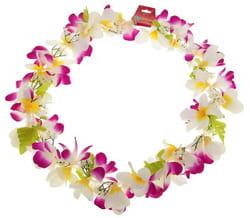 Фото Гавайское ожерелье Ромашки фиолетово-белое