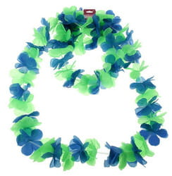 Фото Гавайский набор Цветочки зеленый