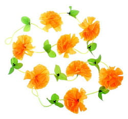 Фото Гавайская гирлянда Цветы оранжевая
