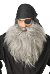 Фото Борода пирата седая длинная