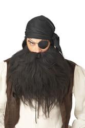 Фото Борода пирата черная