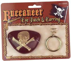 Пиратский набор (наглазник и серьга)