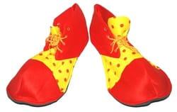 Фото Клоунские ботинки красно-жёлтые взрослые