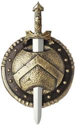 Фото Спартанский меч со щитом