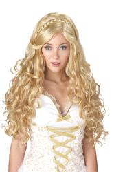 Фото Парик Греческая богиня (блондинка с длинными волосами) взрослый