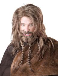 Фото Набор Викинг светлый (парик, борода и усы) взрослый