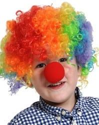 Фото Парик Клоун разноцветный детский