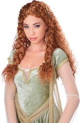 Фото Парик Рыжая принцесса викингов взрослый