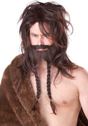 Фото Набор Викинг тёмный (парик, борода и усы) взрослый