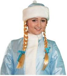 Фото Парик Снегурочки с косами взрослый