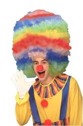 Фото Парик клоунский мультиколор высокий взрослый